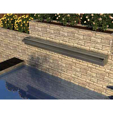 Waterval Vijver Rvs.Aquaking Rvs Waterval 60 Cm